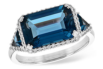 B217-29222: LDS RG 4.60 TW LONDON BLUE TOPAZ 4.82 TGW