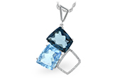 C215-51940: NECK 10.60 BLUE TOPAZ 10.73 TGW